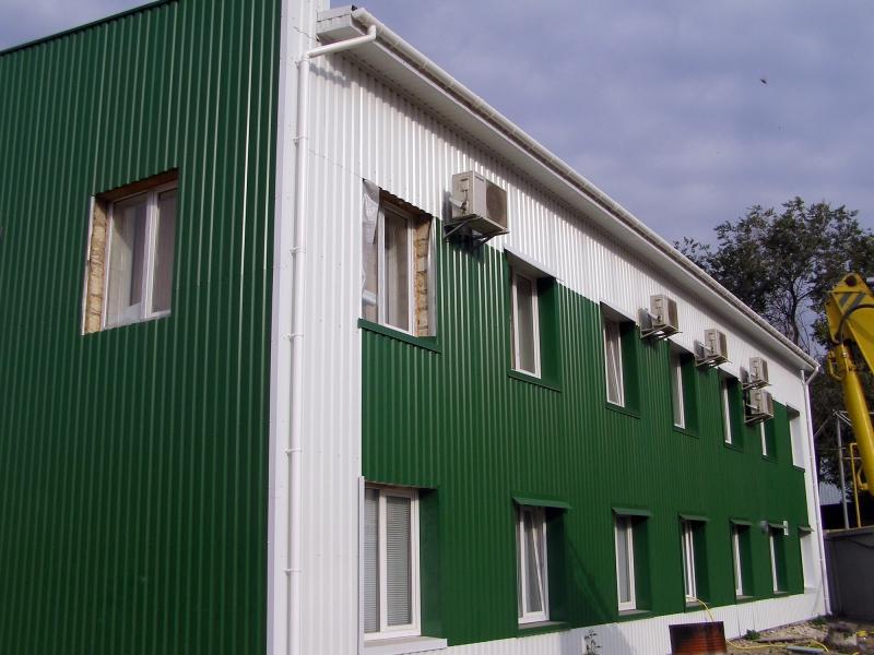 Отделка металлопрофилем домов
